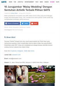 10 Jurugambar 'Malay Wedding' Dengan Sentuhan Artistik Terbaik Pilihan SAYS