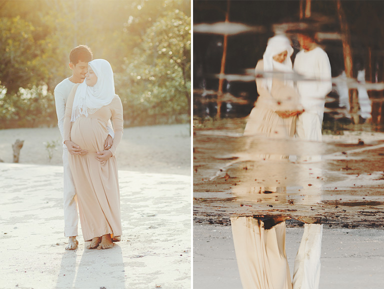beach maternity photography malaysia